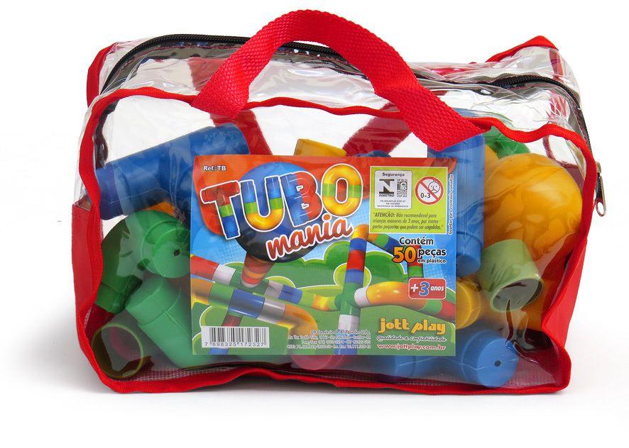 Tubo Mania composto de 50 pçs em plástico na mochila
