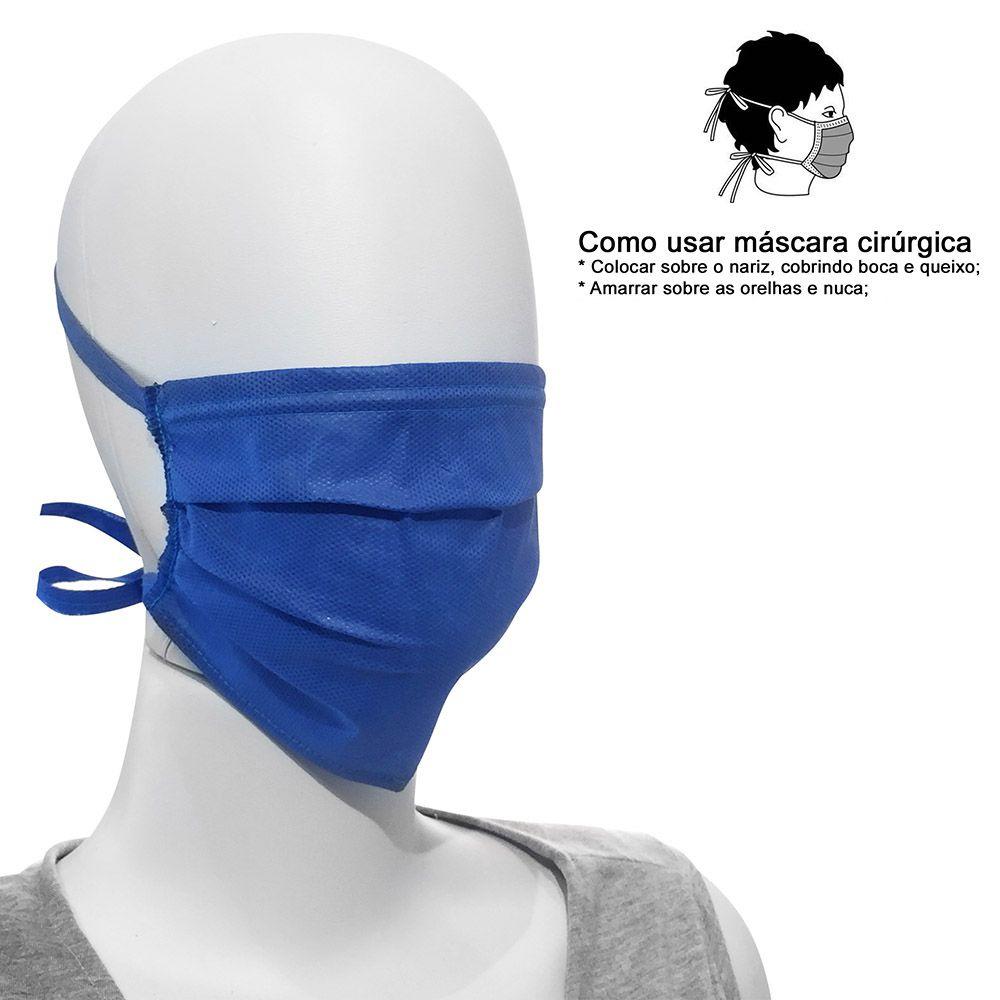 10un Máscara Cirúrgica Azul Profissional de amarrar descartável Greys Anatomy ModelleSkin