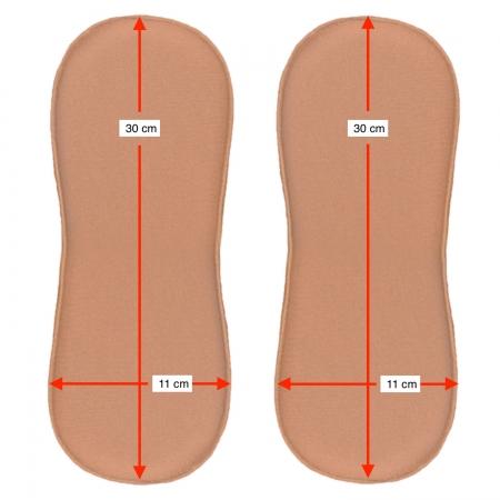 2un placa/ tala de compressão formato retangular c cantos arredondados Biobela 1617LE pós cirúrgico p região flancos