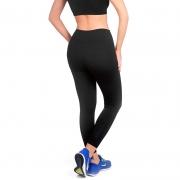 Calça legging feminina longa preta ModelleSkin Sports 8000 fitness e casual tecido Emana compressivo moderado