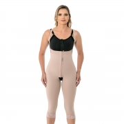 Cinta calça modeladora compressiva cirúrgica Mabella 1091 cintura alta perna abaixo joelho melhor para cirurgia plástica