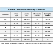 Cinta calção modeladora cirúrgica compressiva Reabilit 4026 tecido cetinete, abertura frontal com colchetes abdominoplas
