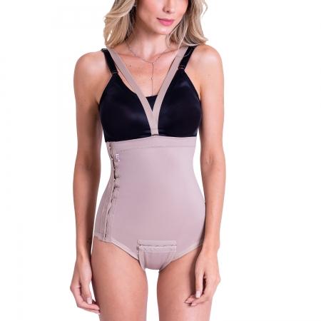 Cinta calcinha modeladora cirúrgica compressiva cintura alta Biobela 1607 Cetinete pós parto lipo de abdômen e flancos