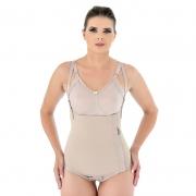 Cinta calcinha modeladora cirúrgica compressiva Mabella 1001 cós alto abertura lateral ideal p lipo barriga bariátrica