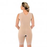 Cinta Modeladora Cirúrgica Macaquinho Mabella 1042 alça larga, malha compressiva, busto pré moldado, lipo abdominoplasti