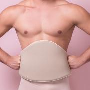 Cinturão de espuma Reabilit 8006 abdômen flancos e costas. Placa tala compressiva p início pós cirúrgia frontal lateral
