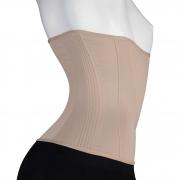 Cinturita Corpete Mabella 1273 com 20 barbatanas, abertura com colchetes, compressão na faixa abdominal, perca medidas
