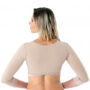 Colete bolero cirúrgico compressivo com mangas sem busto Mabella 1121 tecido Confort ideal p cirurgia nos braços costas