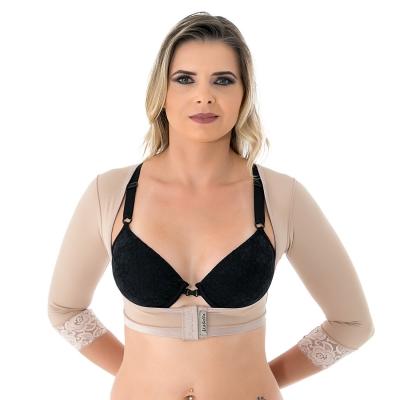 Colete bolero cirúrgico compressivo com mangas sem busto Mabella 2121 tecido Emana ideal para cirurgia nos braços costas
