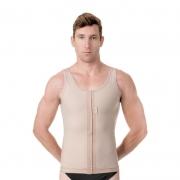 Colete modelador cirúrgico compressivo masculino Modelleskin 84007 no tecido Emana, ideal p bariátrica lipo hd lifting