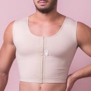 Colete top masculino Reabilit 4035 cirúrgico compressivo indicado para cirurgia de Ginecomastia redução das mamas