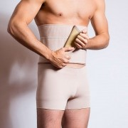 Faixa compressiva abdominal Reabilit 8014 ideal para bariátrica ginecomastia pós parto binder e corretor de postura