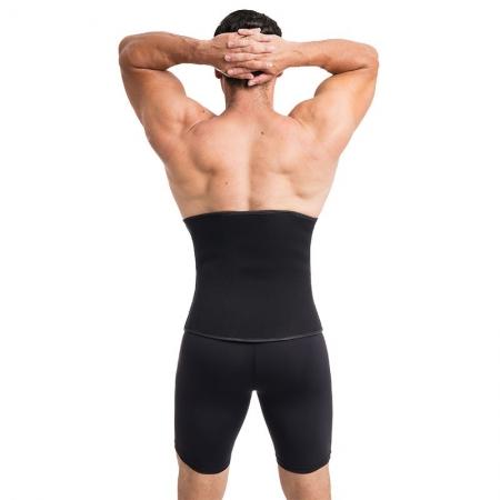 Faixa/cinta fitness masculina ModelleSkin 106000m em Neoprene e Tecido Emana ideal para prática de exercícios e postura