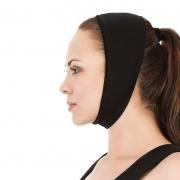 Faixa cirúrgica compressiva facial mentoneira Modelleskin 8012 otoplastia mentoplastia frontoplastia lipo lifting testa