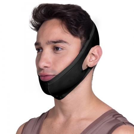 Faixa cirúrgica compressiva mentoneira Biobela 1637 PR mentoplastia mini lifting lipo na papada queixo harmonia facial