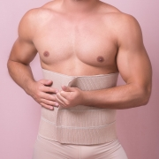 Faixa compressiva abdominal Reabilit 8014 c diversos tamanhos comprimentos larguras. Ideal para bariátrica, ginecomastia