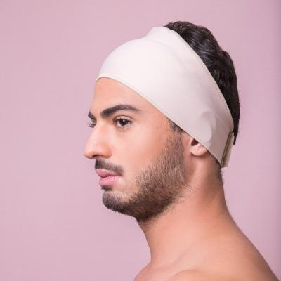 Faixa facial Reabilit 8011 cirúrgica compressiva, universal ajustável com velcro, ideal para Otoplastia, Frontoplastia