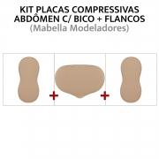 Kit de placas de compressão para abdômen + Flancos (placa com bico + oitinho)