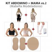 Kit p/ abdominoplastia + mama Mabella pós cirúrgico operatório