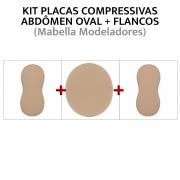 Kit de placas/ talas de compressão para abdômen + flancos