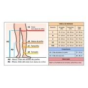 Meia Compressiva Venosan Legline Nude ATM 20-30 mmHg para uso terapêutico ponteira fechada