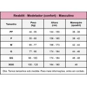 Modelador body masculino Reabilit 8036 cirúrgico compressivo indicado para ginecomastia, abdominoplastia bariátrica lipo