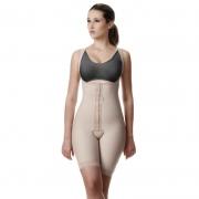 Modelador cirúrgico compressivo feminino macaquinho sem busto Modelleskin 82019 Emana ideal para lipo nas coxas abdomen