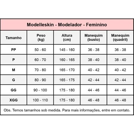 Modelador cirúrgico compressivo longo bipartido com alça larga Modelleskin 84023A ideal p lipo abdômen prótese mamária