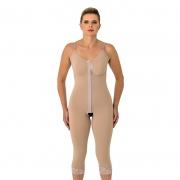 Modelador cirúrgico compressivo longo Mabella 1070 busto pré moldado, ideal para prótese de mama abdominoplastia costas
