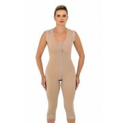 Modelador cirúrgico compressivo longo Mabella 1072 com alça larga ideal para cirurgia plástica lipo abdômen mama pernas