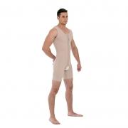 Modelador masculino cirúrgico compressivo Mabella 1191 macaquinho ideal para lipo barriga bariátrica pneu culote pochete