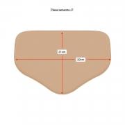 Placa tala de compressão retangular com bico Biobela 1617EVA p/ região abdominal. Ideal p lipoaspiração vibrolipoaspiração