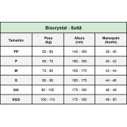 Sutiã aberto nas costas alça fina p/ amamentação Biocrystal 8815