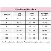 Sutiã com mangas Reabilit 8001 cirúrgico compressivo, ideal para cirurgia de braquioplastia, prótese de mama, mastopexia