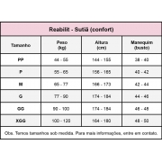 Top anatômico cirúrgico compressivo Reabilit 8034 alça fina cirurgia polimastia mama acessória gordura axilar, linfonodo