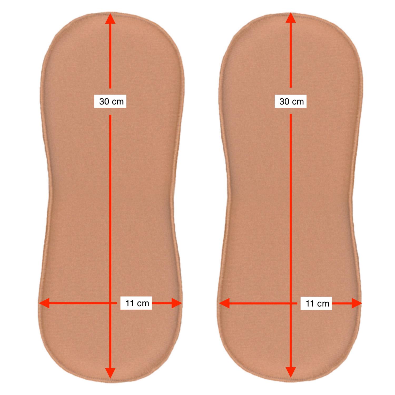 2 un placa/ tala de compressão formato retangular c cantos arredondados Biobela 1617LE pós cirúrgico p região flancos  - Cinta se Nova