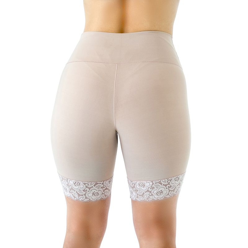 Bermuda Compressiva Cirúrgica Mabella 1250 de cós duplo cintura média e perna 1/2 coxa