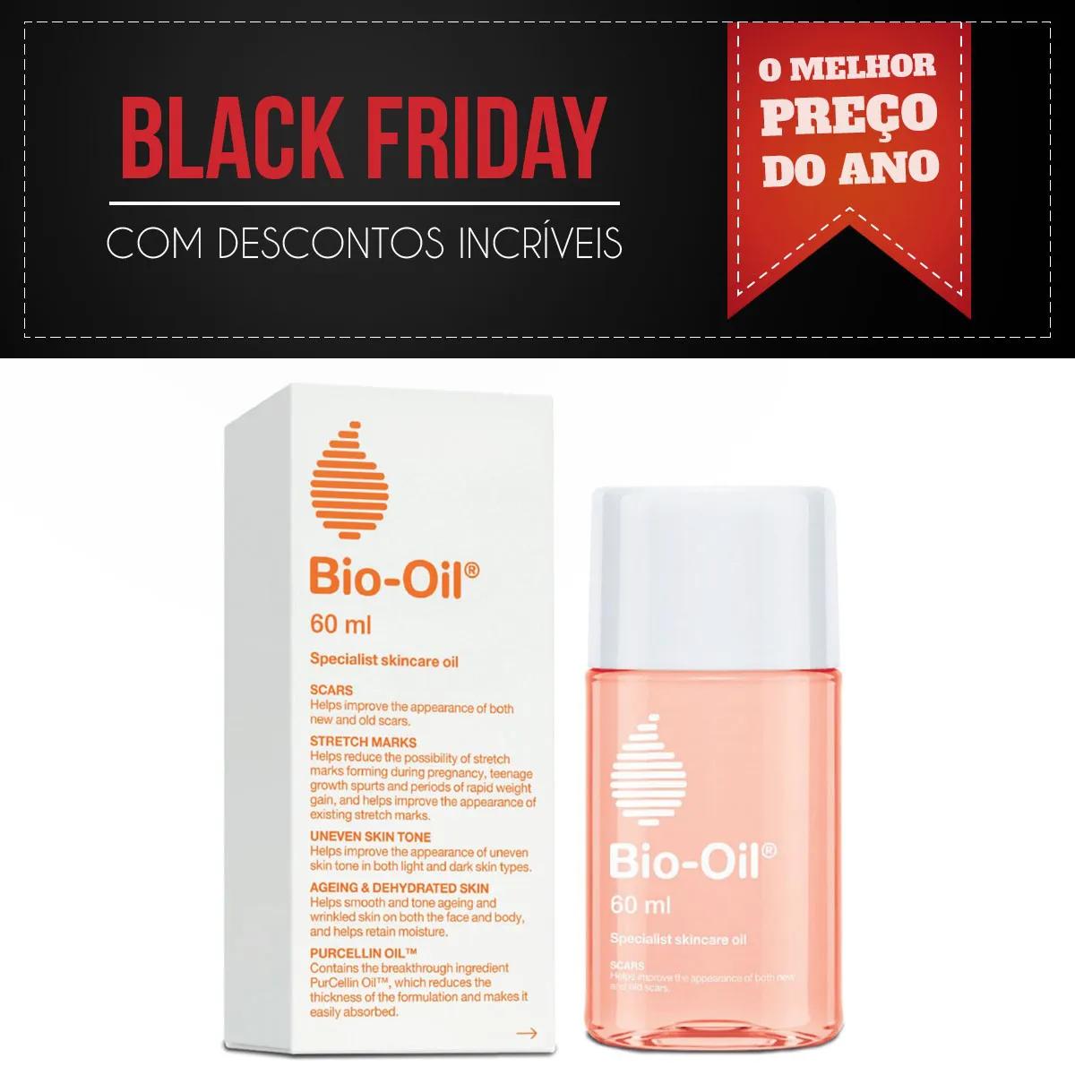Bio Oil 60ml - Óleo referência mundial no tratamento de cicatrizes estrias e tons desiguais