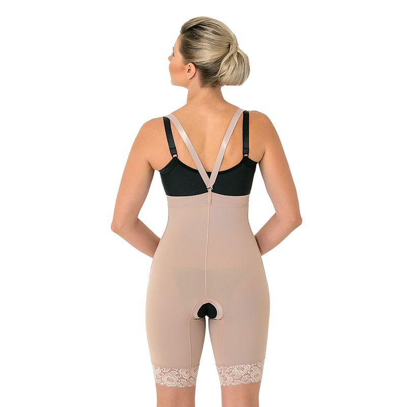 Calça Culote Compressiva Cirúrgica Mabella 1082 cintura alta com perna ½ coxa abertura frontal