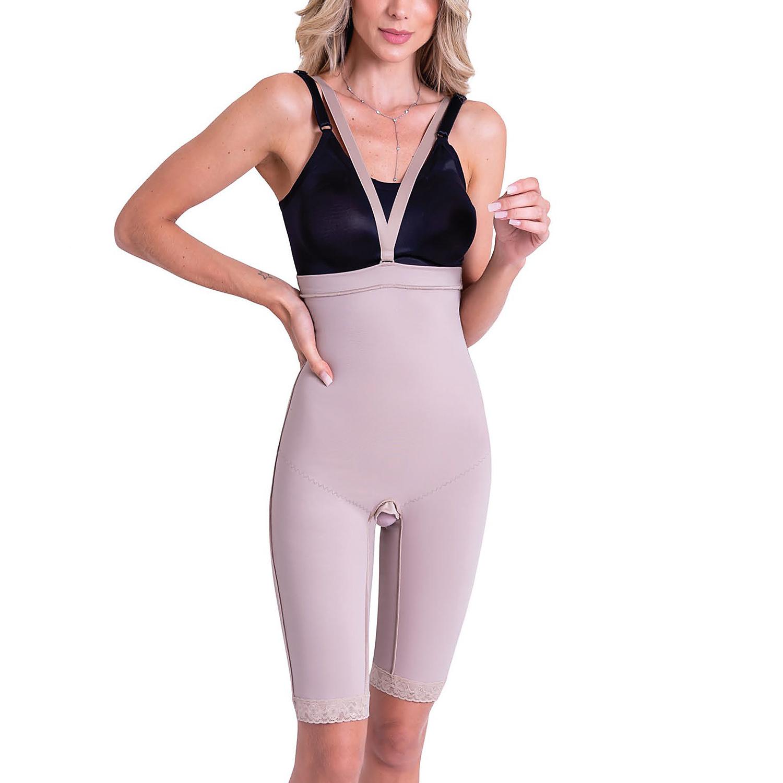 Cinta calção modeladora cirúrgica compressiva fechada cintura alta Biobela 16206 cetinete uso diario lipo abdômen culote  - Cinta se Nova