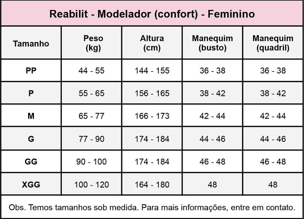 Cinta calção Reabilit 8026 cirúrgica compressiva macaquinho, cós alto, recomendado para pós parto e cirurgias plásticas  - Cinta se Nova