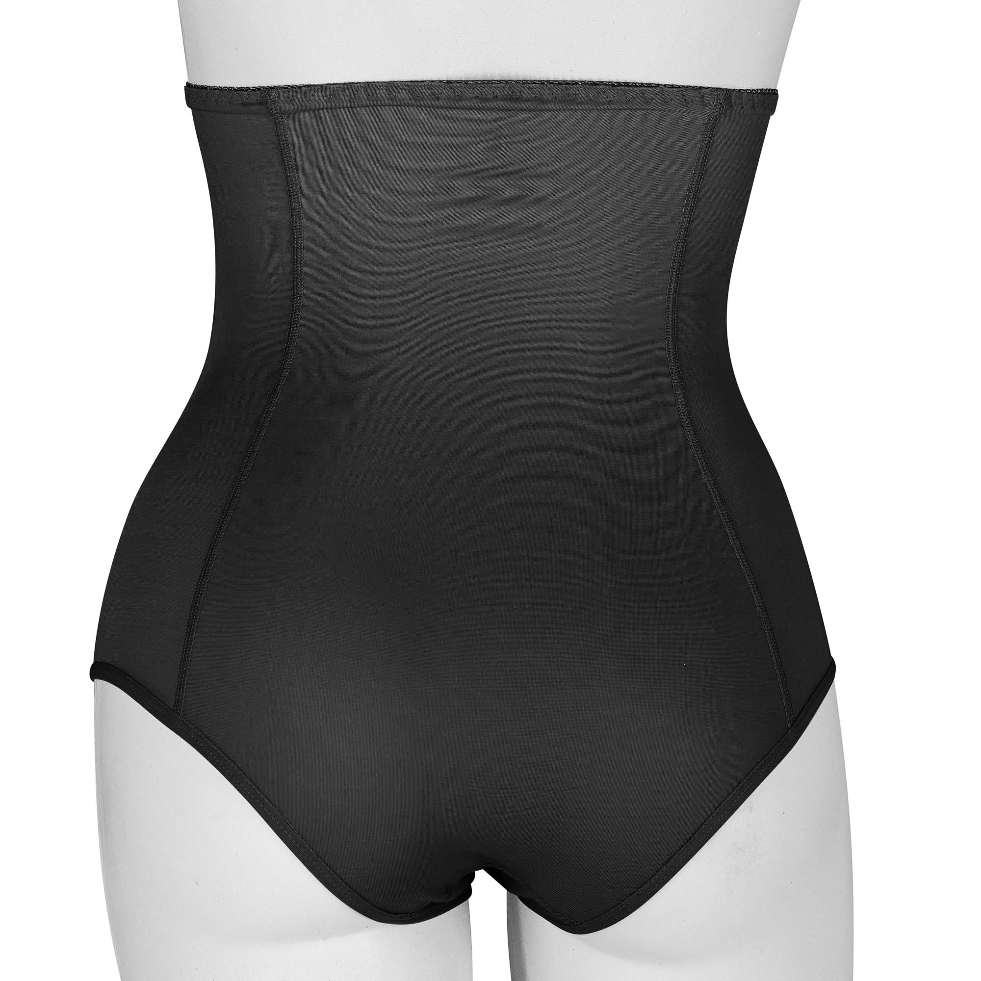 Cinta calcinha cós alto com zíper Reabilit 10024 no tecido cetinete indicado para pós parto e gestantes em geral  - Cinta se Nova