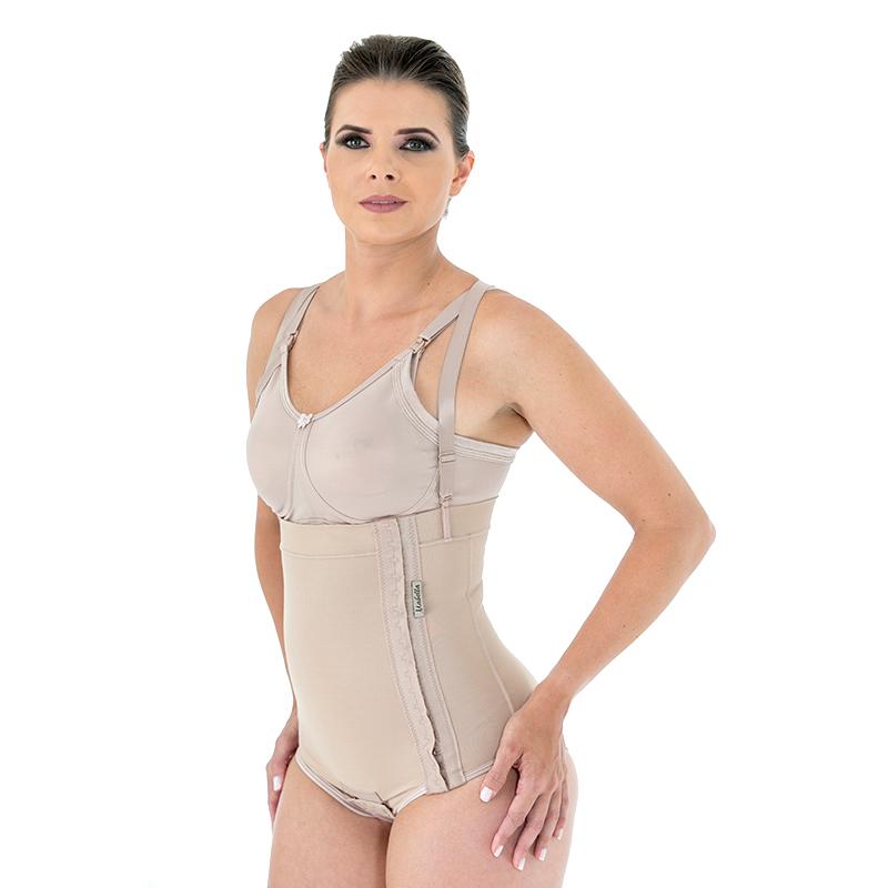 Cinta calcinha modeladora cirúrgica compressiva Mabella 1001 cós alto abertura lateral ideal p lipo barriga bariátrica  - Cinta se Nova