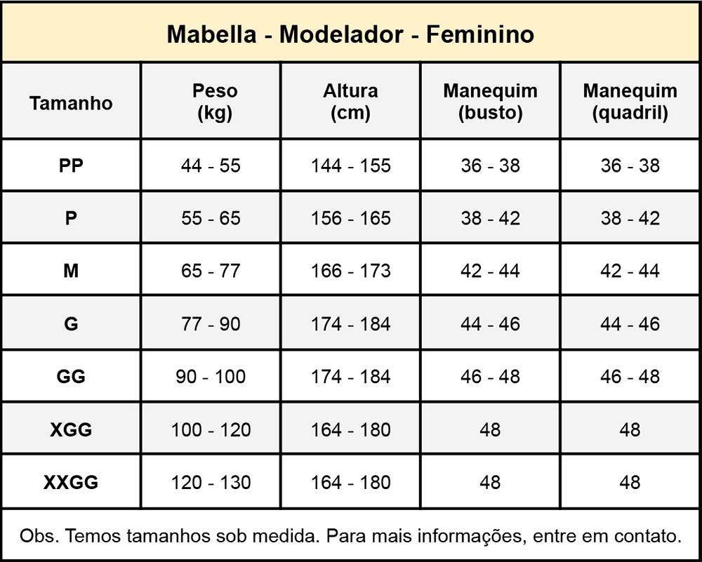 Cinta modeladora compressiva cirúrgica Mabella 1022 Pós Cirúrgico Lipo, Vibrolipo, Abdominoplastia, Coxoplastia, Flancos  - Cinta se Nova