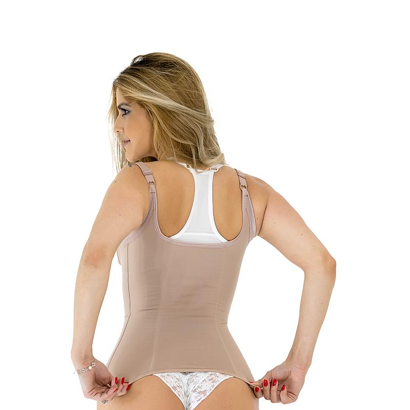 Cinta modeladora compressiva estética Mabella 1280 cinturita corpete com alças corrige a postura e perde medidas na hora  - Cinta se Nova