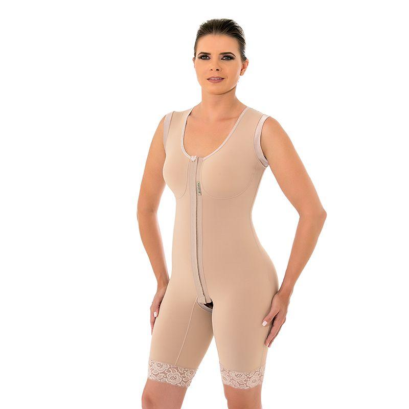 Cinta Modeladora Mabella 1017 207 Pós Operatório Cirúrgico com busto perna 1/2 coxa, abertura frontal e alça larga