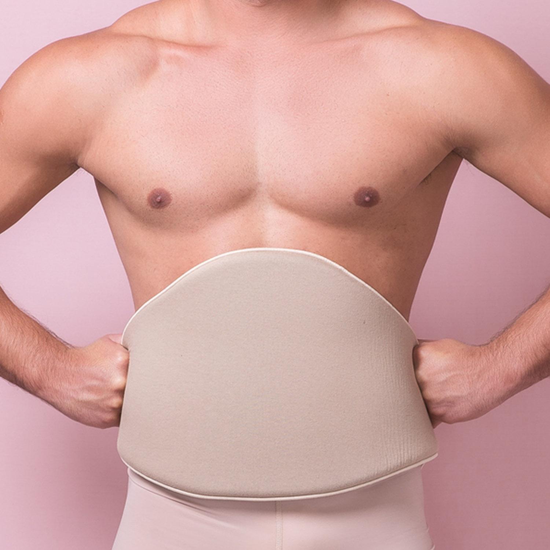 Cinturão de espuma Reabilit 8006 abdômen flancos e costas. Placa tala compressiva p início pós cirúrgia frontal lateral  - Cinta se Nova
