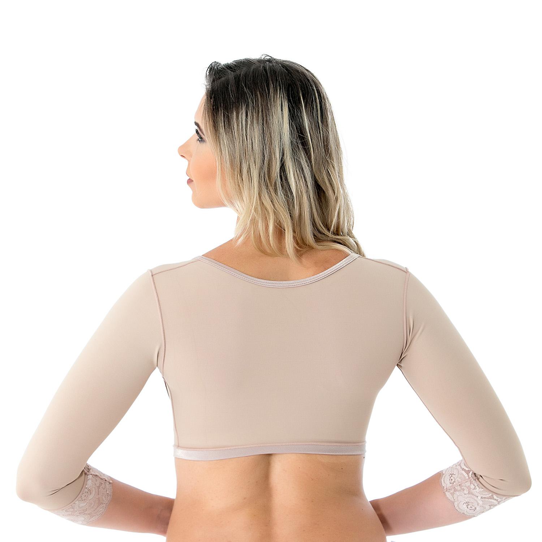 Colete bolero cirúrgico compressivo com mangas sem busto Mabella 2121 tecido Emana ideal para cirurgia nos braços costas  - Cinta se Nova
