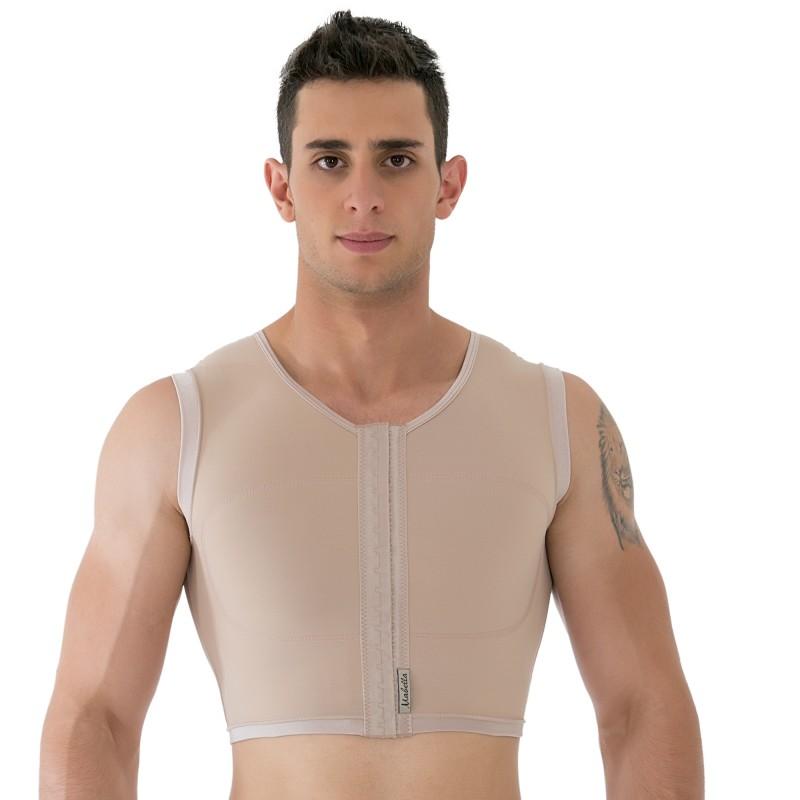Colete masculino cirúrgico compressivo Mabella 1192 para ginecomastia estilo regata para cirurgias como lipo HD, abdômen  - Cinta se Nova