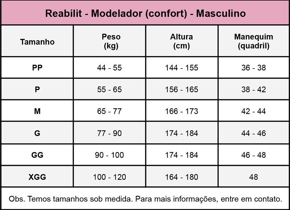 Colete top masculino Reabilit 8035 cirúrgico compressivo indicado para cirurgia de Ginecomastia redução das mamas